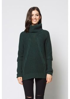 Deep Roll Cable Sweater