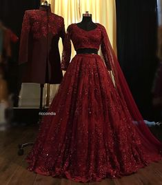 Red embroidered bridal lehenga - - - Red embroidered bridal lehenga – – Source by - Indian Wedding Gowns, Desi Wedding Dresses, Indian Gowns Dresses, Indian Bridal Outfits, Indian Bridal Fashion, Indian Fashion Dresses, Indian Bridal Wear, Indian Designer Outfits, Bridal Dresses