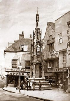 The Butter Cross, Winchester, 1874 Winchester Castle, Winchester England, Winchester Hampshire, Hampshire England, Candid Photography, Street Photography, Old Street, Film Camera, Family History