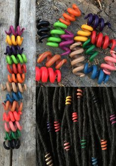 Spring came! Just imagine these new dread beads on your dreadlocks! Click here to view more  https://www.etsy.com/listing/474105179/set-of-13-dread-beads-6-mm-dreadlock?ref=shop_home_active_19