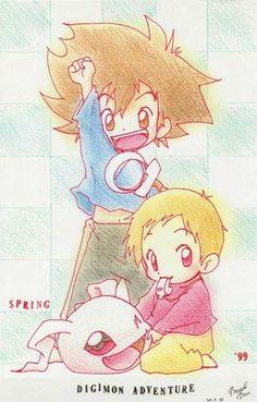 Tai and Kari - Digimon 02