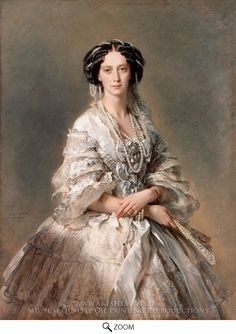 Painting Reproduction of Portrait of Empress Maria Alexandrovna, Franz Xavier Winterhalter