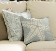 love these colors, and the starfish pillow.....new living room color pallet?