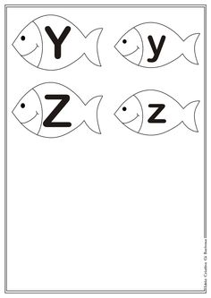 Letter en hoofdletter Y - Z