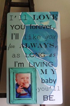 22 x 13 Picture Frame for New Baby   designed by YOU  via dellalucille.etsy.com