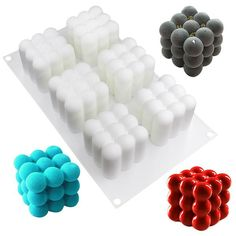 each cavity ( ) Modern cake or chocolate entremets bakeware Homemade patisserie essentials Chocolate and sweet pastry cake mold for small mousse or cheesecake etc. Made from European grade silicone; stronger, more flexible and du Cake Craft, Diy Cake, Fondant Molds, Cake Mold, Boutique Patisserie, Cubes, Decoration Patisserie, Baking Utensils, Chocolate Candy Molds