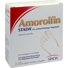 AMOROLFIN STADA 5 prozent wirkstoffhaltiger Nagellack:   Packungsinhalt: 3 ml Wirkstoffhaltiger Nagellack PZN: 09098182 Hersteller:…