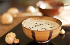 Mushroom Garlic Soup. This recipe takes the wonderful flavor of mushrooms sauteed in garlic butter and puts it into a soup – a garlic and mushroom lover's dream! ♥ MJ's Kitchen