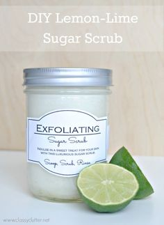 DIY Sugar Scrub Recipe + FREE Printable Label