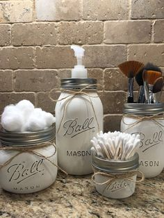 4 set of Mason jars, can come in any color. The jars are coated in a paint that will not wash off, so it is ok to gently hand wash but do not put in the dishwasher. The inside of the jars are not painted so they will not be damaged either. If you have any further questions please contact me at any