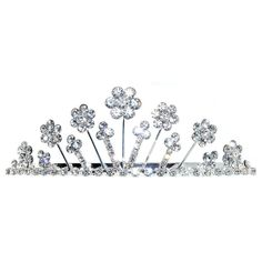 1 3/8 X 4' Motif On Full Tiara with Combs, Crystal Rhinestones!, in Crystal with Silver Finish * Want additional info? Click on the image. (This is an affiliate link and I receive a commission for the sales)