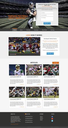 Design Sleek Landing Page for Fantasy Football Website by malzi.