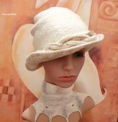 Filzhut-handgemacht-vintage-WunderWoll-Querfurt Panama Hat, Hats, Vintage, Fashion, Felt Hat, Headboard Cover, Silk, Handmade, Nice Asses