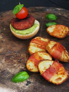 Chorizo open burger