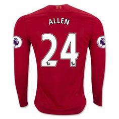 Liverpool 16-17 Joe Allen 24 Hemmatröja Långärmad  #Fotbollströjor