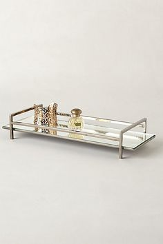Mirrored Vanity Tray #anthropologie Would make a lovely display for my perfume collection