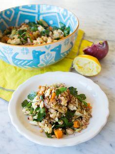 Roasted Cauliflower & Sweet Potato Salad | www.sweetpotatosoul.com