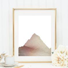 Mountain Print Printable Wall Art Mountain Art by JettyPrintables