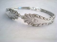 "This bracelet is made from the ""Raphael"" pattern that was discontinued in 1896. These spoons are at least 117 years old! A gorgeous & extremely collectible pattern."