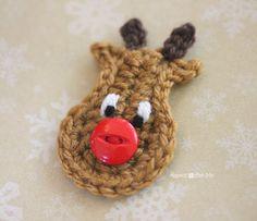 Repeat Crafter Me: Crochet Reindeer Applique Pattern