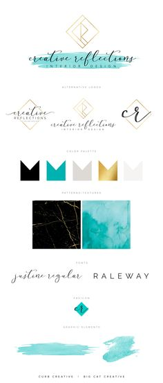 Creative Reflections Branding Style Board by Big Cat Creative   Get your own at www.bigcatcreative.com   Brand Design   Branding Design   Brand Design Inspiration   Modern Brand Design   Logo Design Inspiration   Brand Identity Design   Brand Identity Inspiration   Brand Mood Board   Brand Style Board   Branding Ideas   Feminine Brand Design   Feminine Logo Design   Organic Brand Design   Water Color Logo   Gold Logo Design   Real Estate Logo Design #realestatebranding