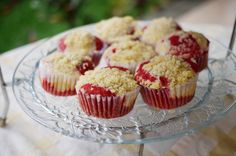 Red Velvet Cupcakes with Cheesecake and Streusel Topping