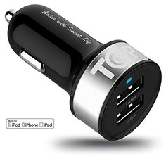 Car Charger TopG Smart Mini 2 Smart Port Car Charger for iPhone 7 6S Plus 6 Plus 6 5SE 5S 5 5C 4S Samsung Galaxy S7 S6 Edge Note 5 4 S5 Tab SLG G5 G4HTCNexus 5X 6PiPads Pro Portable >>> Want to know more, click on the affiliate link Amazon.com.
