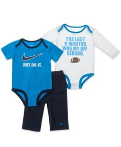 Nike Baby Set, Baby Boys 3 Piece Bodysuit and Pant Set