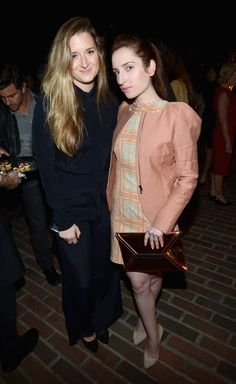 """Grace Gummer (L) and Zoe Lister-Jones attend Vanity Fair and Juicy Couture's Celebration of the 2013 """"Vanities"""" Calendar hosted by Vanity Fair West Coast Editor Krista Smith and actress Olivia Munn in support of the Regional Food Bank of Oklahoma, a member of Feeding America, at the Chateau Marmont on February 18, 2013 in Los Angeles, California."""