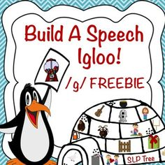 Build a speech igloo using your /g/ sound! This activity targets /g/ in both initial and final positions.