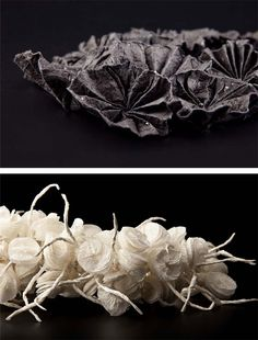 Paper Jewellery - delicate sculptural designs inspired by organic forms; art jewelry // Ana Hagopian