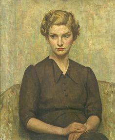 """""""Portrait of a Young Woman"""" (1934) by Arnold Mason"""