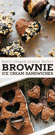 ice cream sandwich These peanut butter brownie ice cream sandwiches have two layers of soft and chewy brownie surrounding a thick layer of crunchy peanut butter ice cream. Chewy Brownies, Peanut Butter Brownies, Easy Desserts, Delicious Desserts, Dessert Recipes, Brownie Recipes, Chocolate Recipes, Brownie Ice Cream, Cream Cake