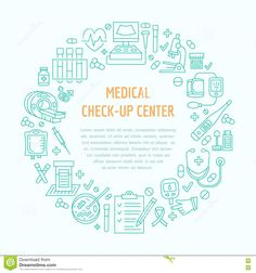 Medical Poster Template. Vector Line Icon, Illustration Of Medical Center, Health Check Up. Medical Equipment Mri Stock Vector - Illustration of pressure, clinic: 80177429