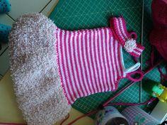 robe et bandeau tricot