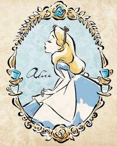 Ideas tattoo disney alice in wonderland lewis carroll Disney Tattoos, Cute Disney, Disney Art, Alice Disney, Disney Ideas, Art Pariétal, Alice And Wonderland Tattoos, 2017 Image, Disney Kunst