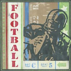Football Ticket Art