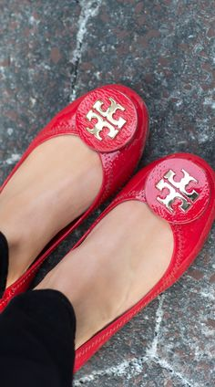 Valentine's Day: Red Patent Tory Burch Reva Flats