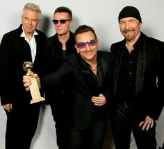 At the 71st Golden Globe Awards in Los Angeles tonight, the band took home the award for 'Best Original Song' for 'Ordinary Love'.