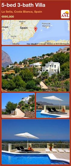 5-bed 3-bath Villa in La Sella, Costa Blanca, Spain ►€695,000 #PropertyForSaleInSpain