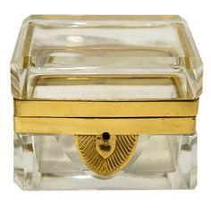 French Ormolu Glass Casket