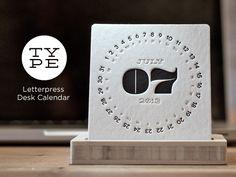 TYPE - a Letterpress Desk Calendar by Jordan Mummert — Kickstarter