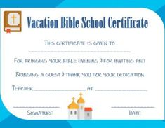 vbs certificate template - Vbs Certificate Template