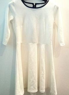 Kup mój przedmiot na #vintedpl http://www.vinted.pl/damska-odziez/krotkie-sukienki/9940626-biala-sukienka-pepco-sliczna-z-czarnymi-wstawkami-wysylka-gratis
