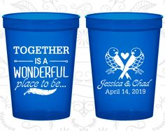 Custom Plastic Cups, Personalized Cups, Wedding Cups, Personalized Plastic Cups, Stadium Cups, Party Cups, Plastic Cups (397)
