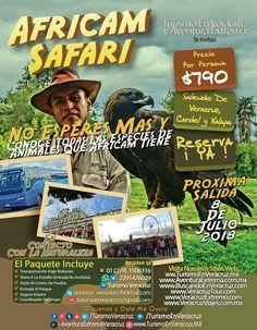 Este 7 de julio vamos a #AfricamSafari saliendo de Veracruz, Cardel y Xalapa. Reserva tu lugar ya 😱🐵🐈🦓🦒 📞OFICINA 1508316 📱 WhatsApp 2291476029 📨 turismoenveracruz@gmail.com 🌐 http://www.veracruztour.com/ecologico.htm