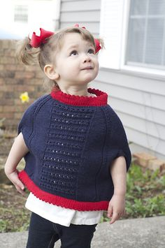 Ravelry: Mommy's Little Cupcake Poncho pattern by Stephanie Lotven
