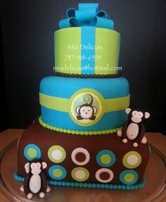 Baby Showers cake /  Monkey cake