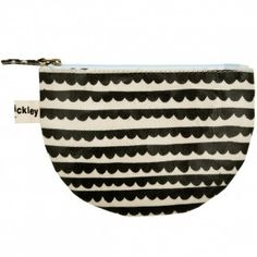 Lisa Stickley Round Collar Charcoal Print Coin Purse