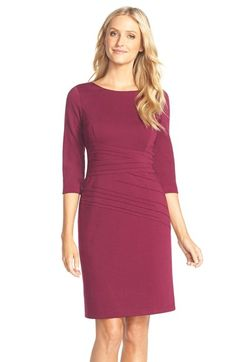 Ellen Tracy Seamed Ponte Sheath Dress (Regular & Petite) available at #Nordstrom